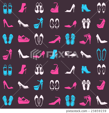 pattern with different kinds of shoes 23859159