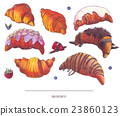 Large raster illustration with croissant.  23860123