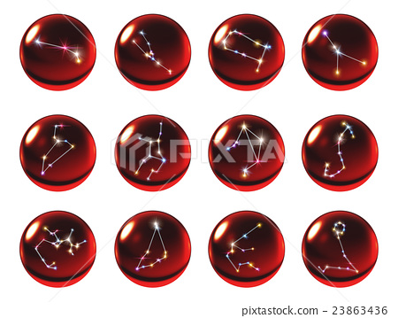 crystal ball 12 Horoscopes red 23863436