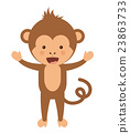 monkey, funny, vector 23863733