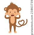 monkey, funny, vector 23863739
