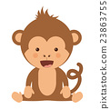 monkey, funny, vector 23863755