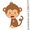 monkey, funny, vector 23863757