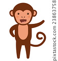 monkey, funny, vector 23863758