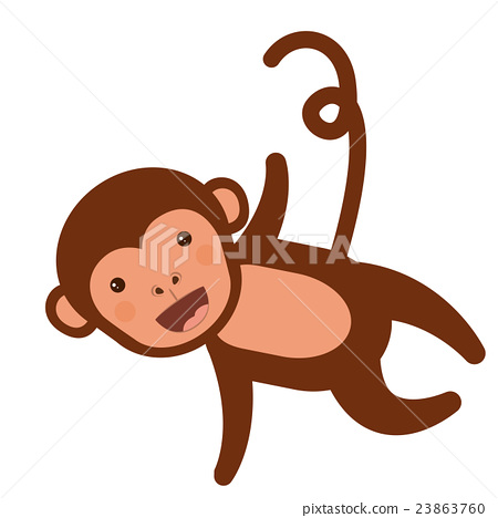 funny monkey character isolated icon design 23863760