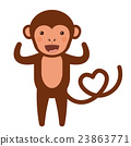monkey, funny, vector 23863771