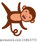 monkey, funny, vector 23863773