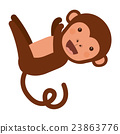 funny monkey character isolated icon design 23863776