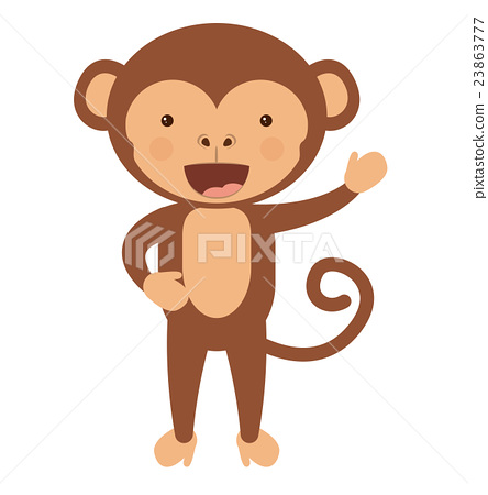 funny monkey character isolated icon design 23863777