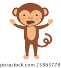 monkey, funny, vector 23863778