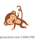 monkey, funny, vector 23863780