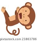 monkey, funny, vector 23863786
