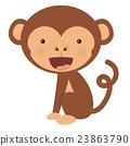 monkey, funny, vector 23863790