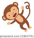monkey, funny, vector 23863791