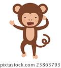 monkey, funny, vector 23863793
