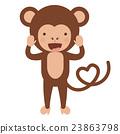 monkey, funny, vector 23863798