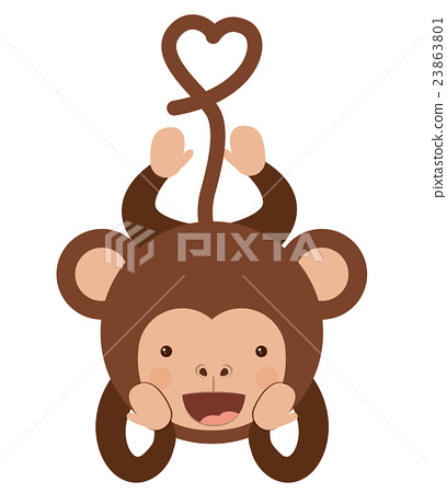funny monkey character isolated icon design 23863801