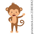 monkey, funny, vector 23863842
