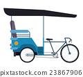 rickshaw india isolated icon design 23867906