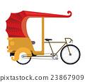 rickshaw india isolated icon design 23867909