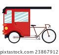 rickshaw india isolated icon design 23867912