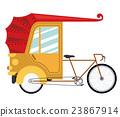 rickshaw india isolated icon design 23867914