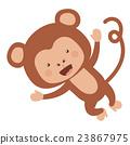 monkey, funny, vector 23867975