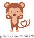 monkey, funny, vector 23867979