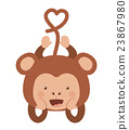 monkey, funny, vector 23867980