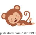 monkey, funny, vector 23867993
