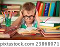 Schoolboy in classroom. 23868071