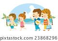 海水浴 家庭 家族 23868296