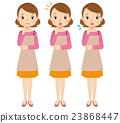 여성 주부 표정 포즈 23868447