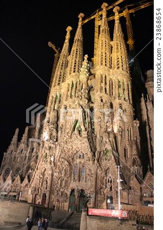 Light-up of World Heritage Sagrada Familia 23868654