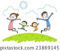 가족 : 웃는 얼굴로 점프 23869145
