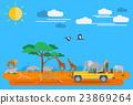 Flat design, African wildlife 23869264
