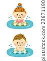 海水浴 男人和女人 男女 23871190