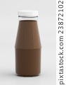 Chocolate Milk in Glass Bottle Isolated 3D Render 23872102