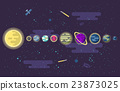 illustration of a set  all the planets  the solar 23873025