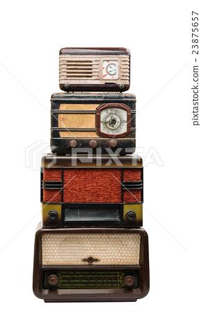 retro radio isolated 23875657