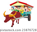 oxcart, water buffalo carriage, water buffalo 23876728