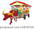 oxcart, water buffalo carriage, water buffalo 23876729