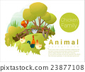 Cute animal family background with Chickens 2 23877108