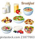 Breakfast 2. Set of cartoon vector food icons 23877663