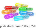 Set of vitamin B1, B2, B3, B5, B6, B7, B12 23878750