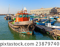 Old fisherman boat in jaffa, Israel. 23879740