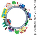 Circle with cars theme image 1 23892488