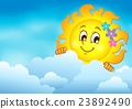 sun, cloud, clouds 23892490