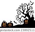 Halloween tree silhouette theme 2 23892511
