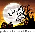 Halloween tree silhouette theme 3 23892512